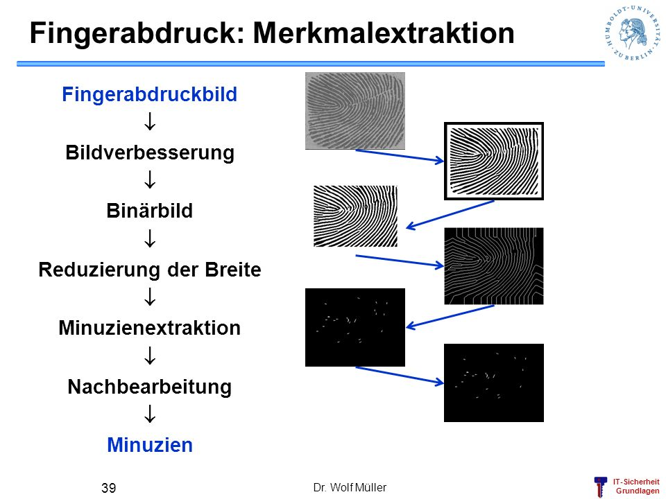 Fingerabdruck: Merkmalextraktion