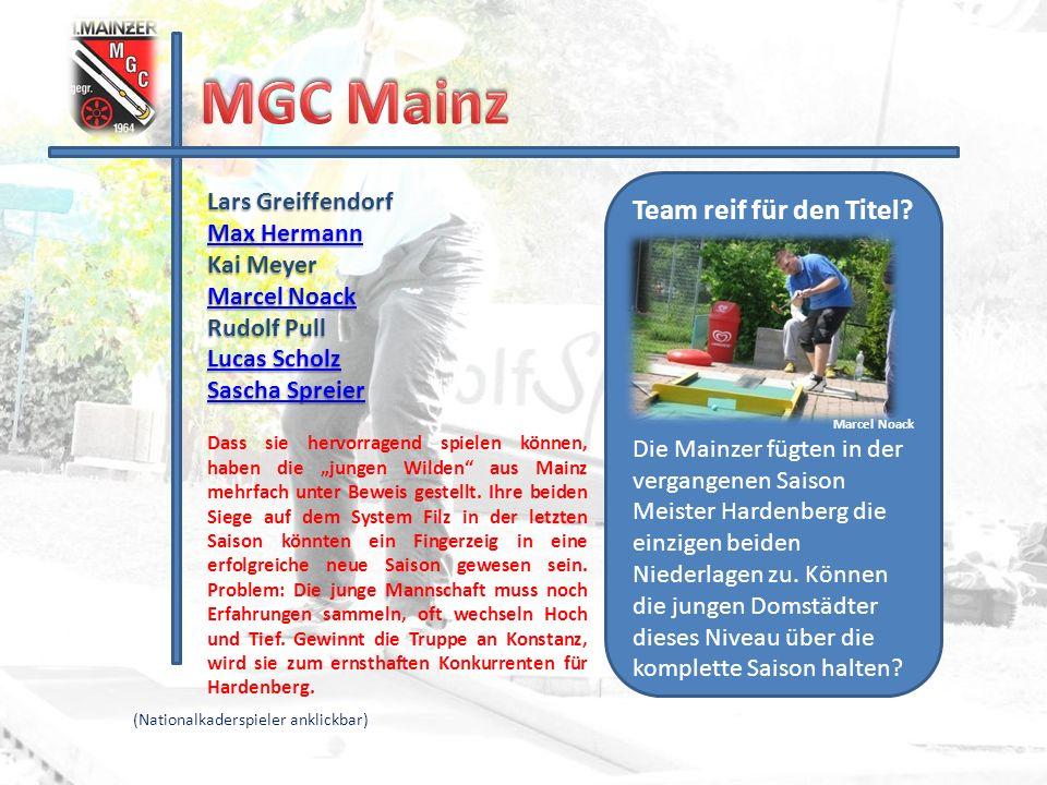 MGC Mainz Team reif für den Titel Lars Greiffendorf Max Hermann