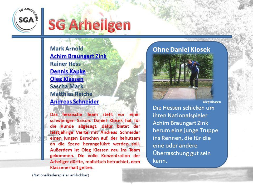 SG Arheilgen Ohne Daniel Klosek Mark Arnold Achim Braungart Zink