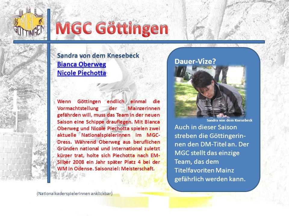 MGC Göttingen Dauer-Vize Sandra von dem Knesebeck Bianca Oberweg