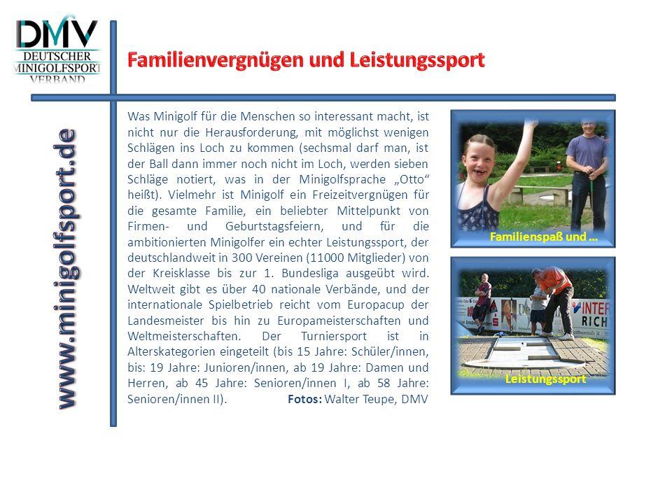 www.minigolfsport.de Familienvergnügen und Leistungssport