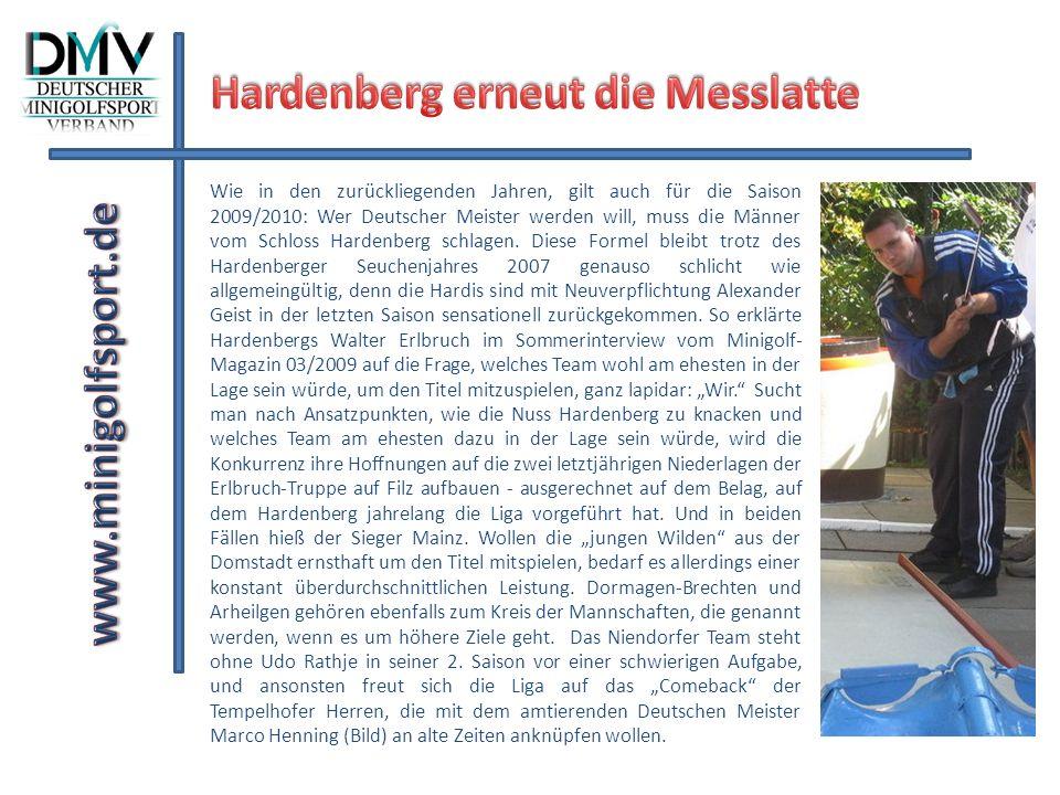 Hardenberg erneut die Messlatte