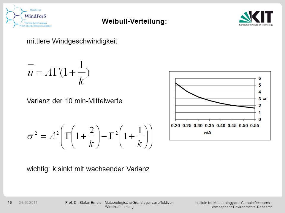 mittlere Windgeschwindigkeit