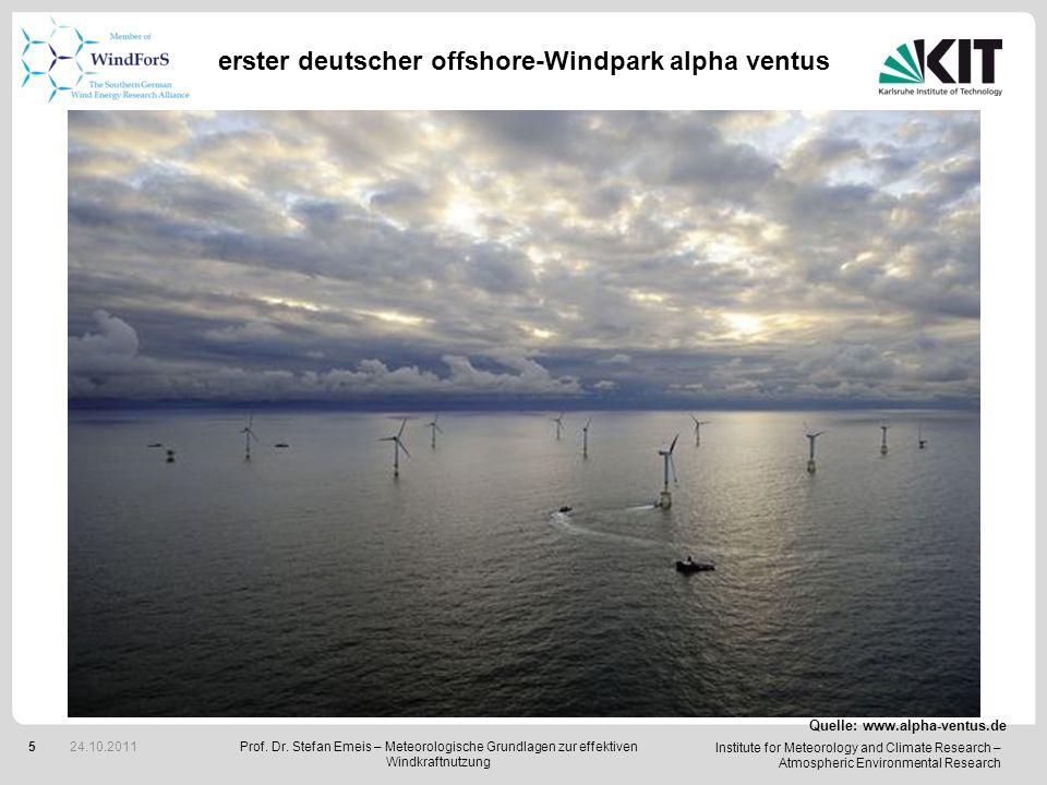 erster deutscher offshore-Windpark alpha ventus