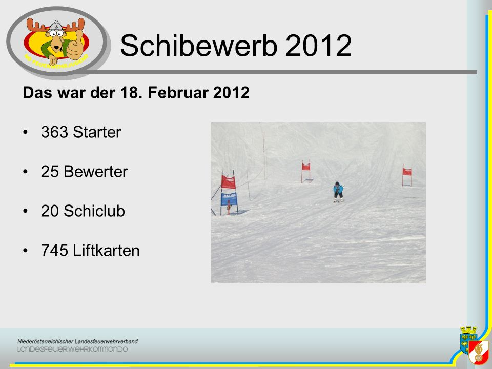 Schibewerb 2012 Das war der 18. Februar 2012 363 Starter 25 Bewerter