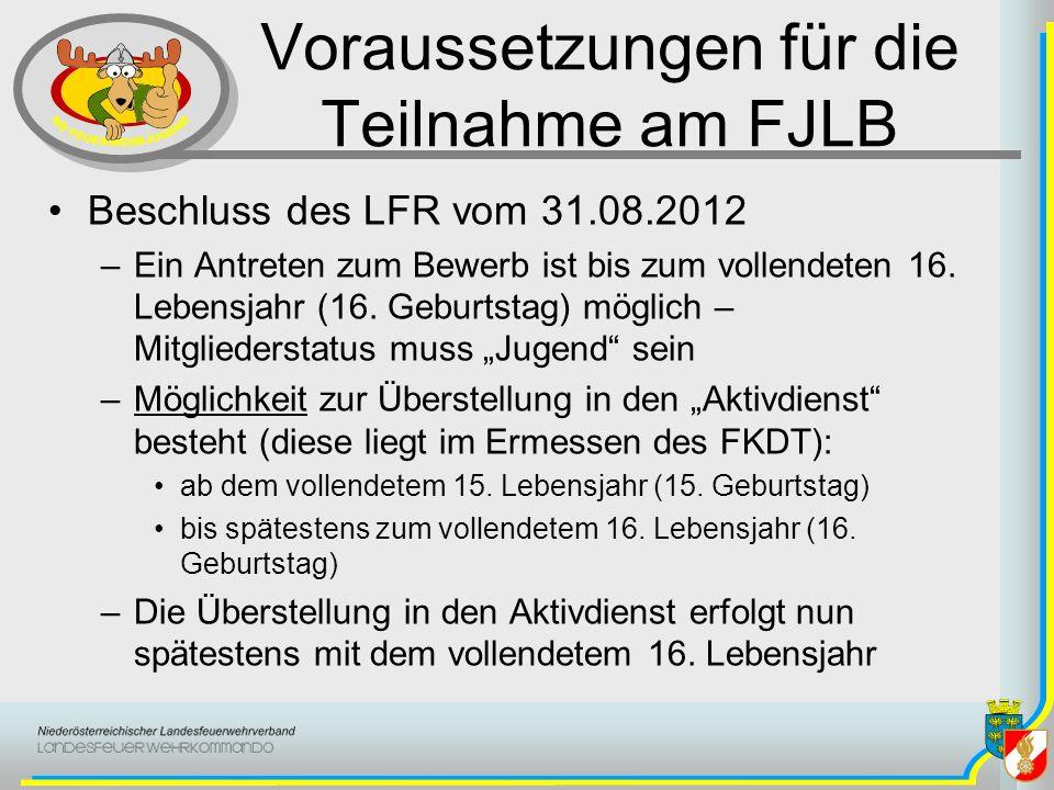 Voraussetzungen für die Teilnahme am FJLB