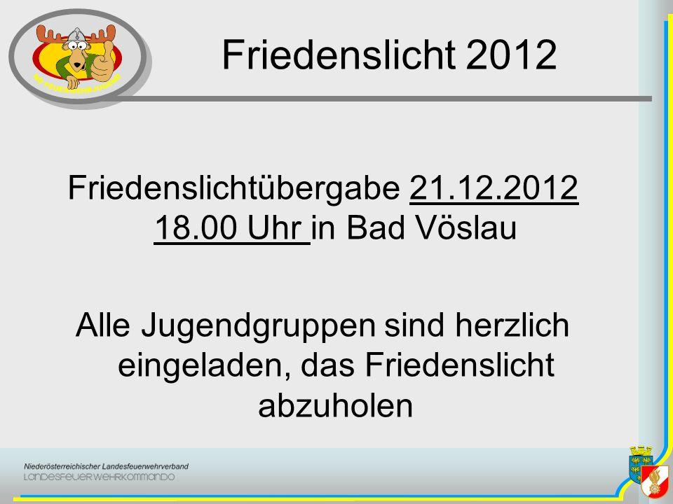Friedenslichtübergabe 21.12.2012 18.00 Uhr in Bad Vöslau