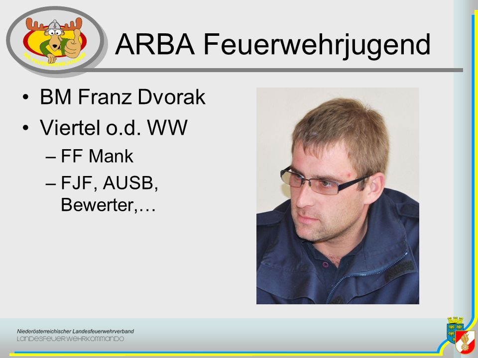 ARBA Feuerwehrjugend BM Franz Dvorak Viertel o.d. WW FF Mank