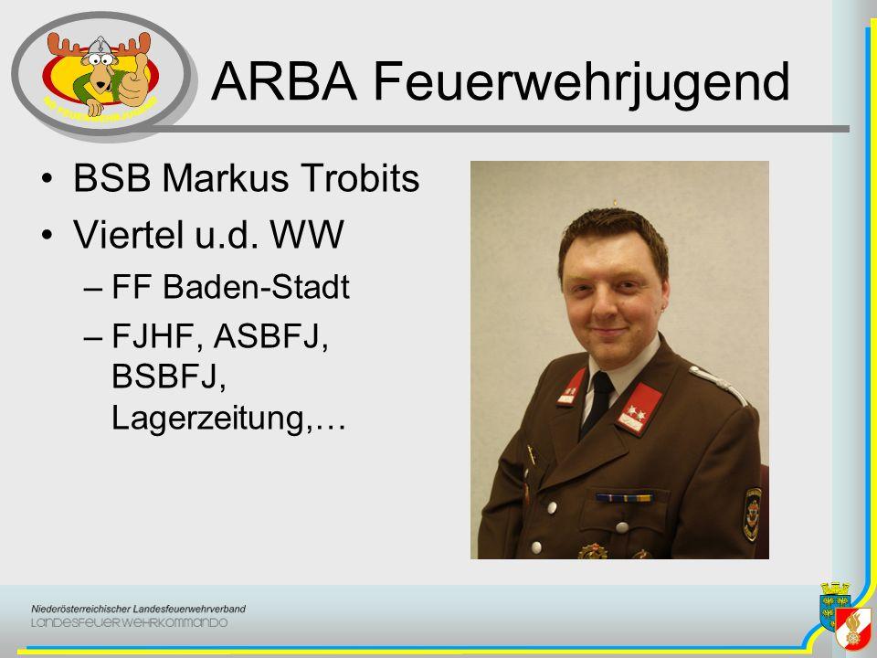 ARBA Feuerwehrjugend BSB Markus Trobits Viertel u.d. WW FF Baden-Stadt
