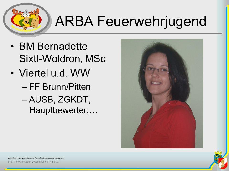 ARBA Feuerwehrjugend BM Bernadette Sixtl-Woldron, MSc Viertel u.d. WW