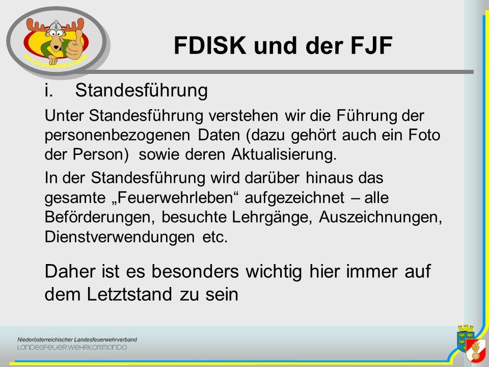FDISK und der FJF Standesführung