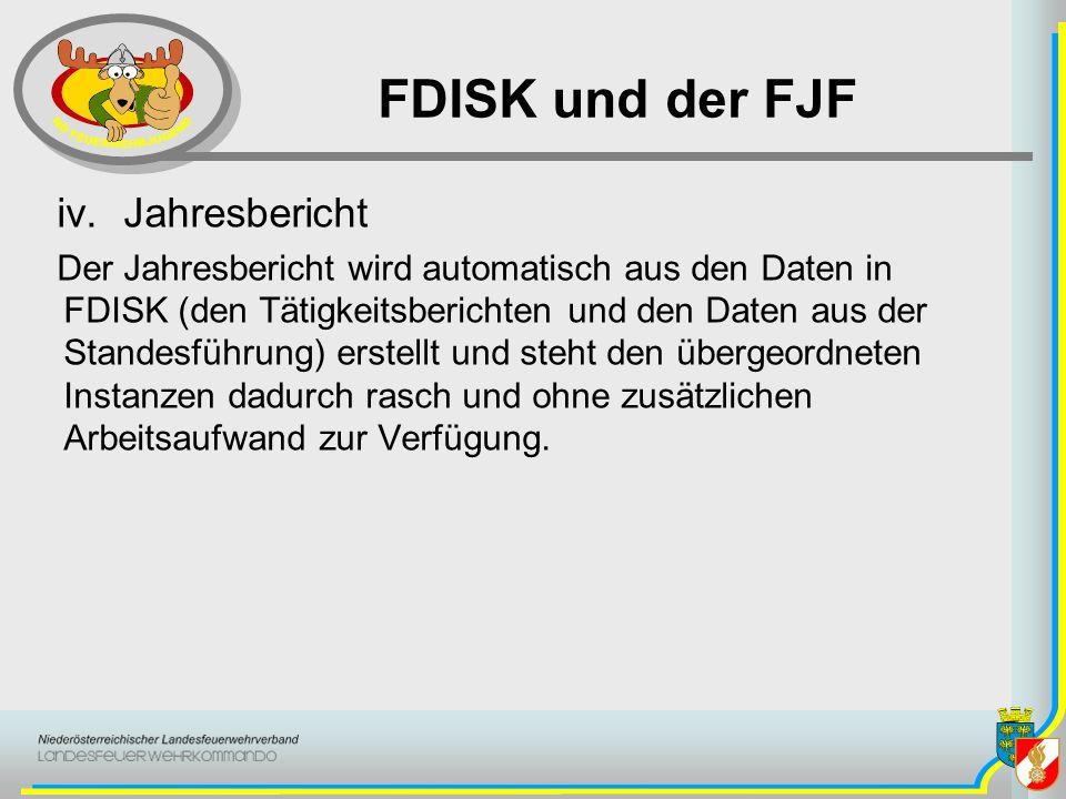 FDISK und der FJF Jahresbericht