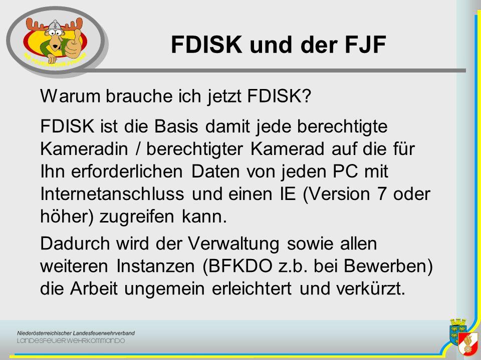FDISK und der FJF Warum brauche ich jetzt FDISK