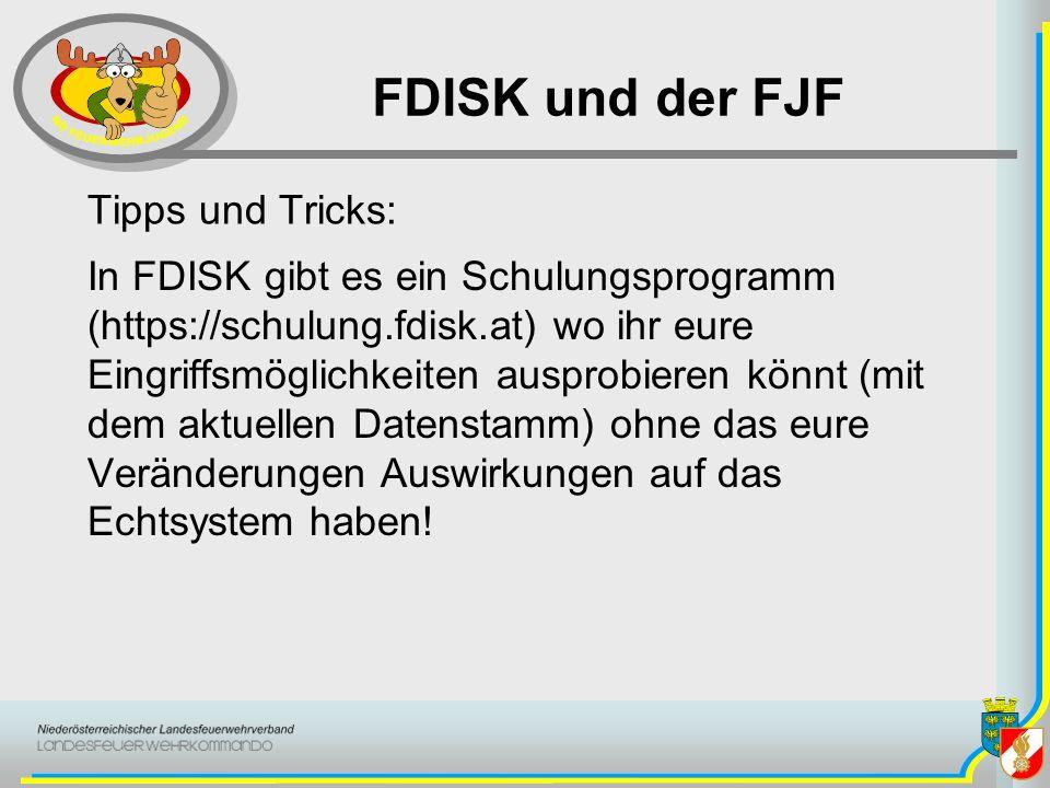 FDISK und der FJF Tipps und Tricks: