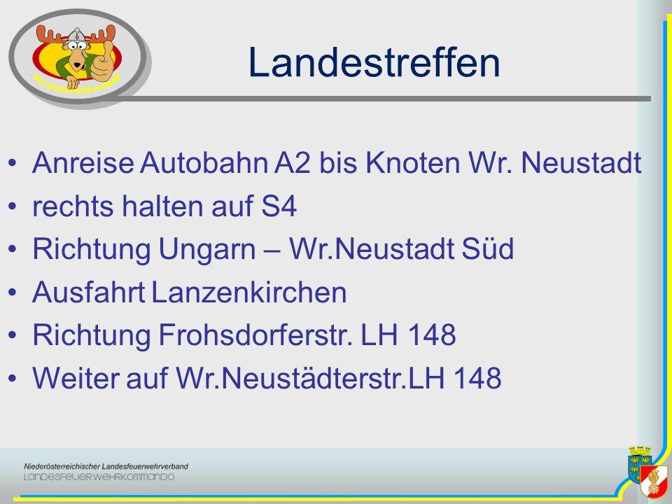 Landestreffen Anreise Autobahn A2 bis Knoten Wr. Neustadt