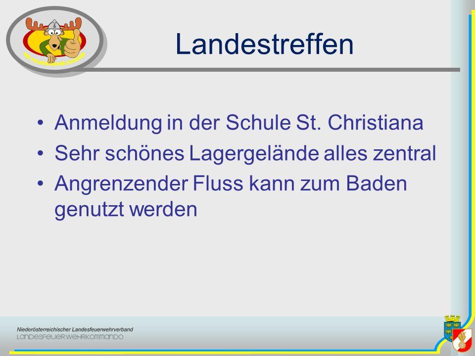 Landestreffen Anmeldung in der Schule St. Christiana