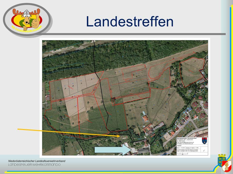 Landestreffen blauer Pfeil ist Schule großes Areal Lageranmeldung und Bewerbsan/ummeldungen (St.Christiana )