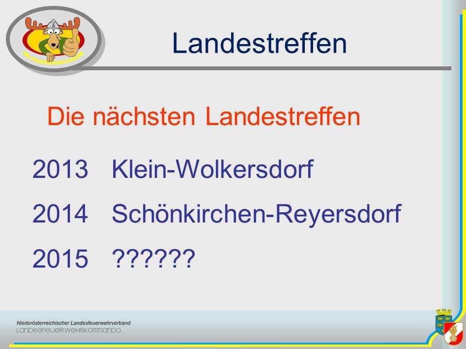 Landestreffen Die nächsten Landestreffen 2013 Klein-Wolkersdorf