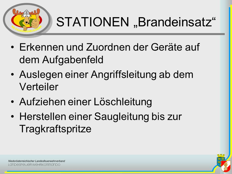 """STATIONEN """"Brandeinsatz"""