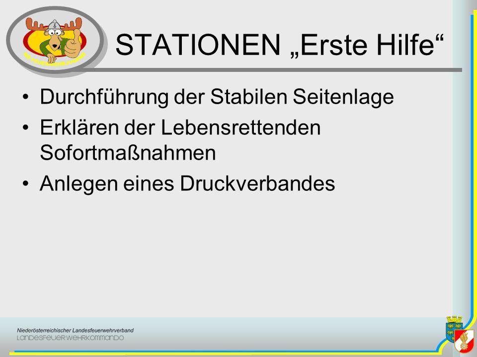 "STATIONEN ""Erste Hilfe"