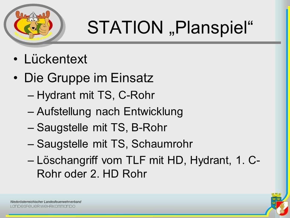 """STATION """"Planspiel Lückentext Die Gruppe im Einsatz"""