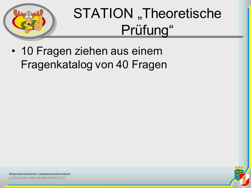 """STATION """"Theoretische Prüfung"""
