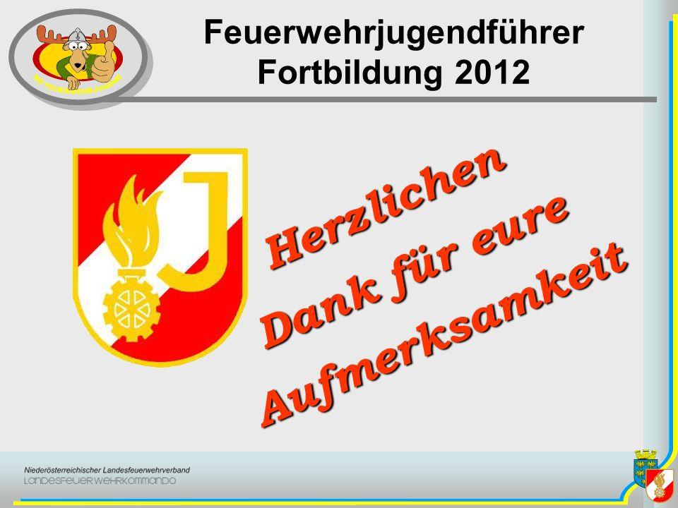 Feuerwehrjugendführer Fortbildung 2012