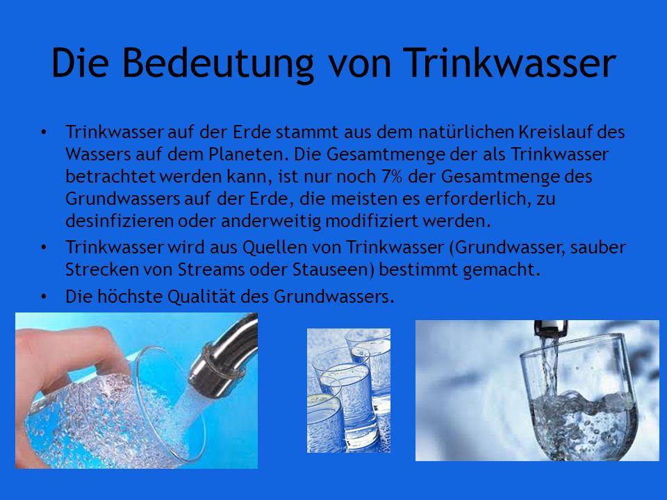 Die Bedeutung von Trinkwasser