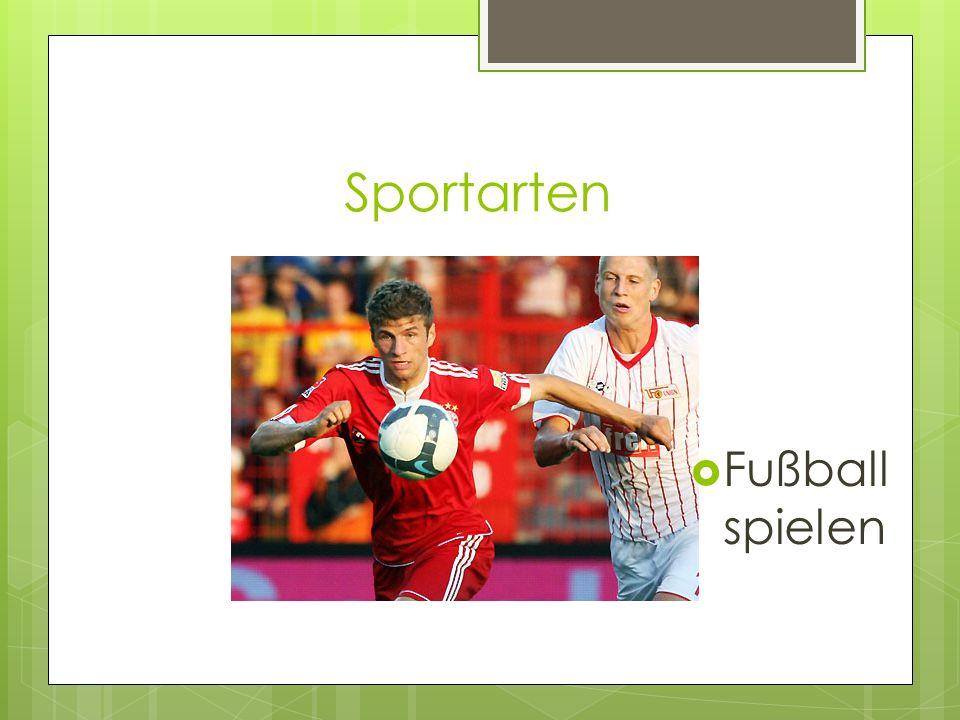Sportarten Fußball spielen