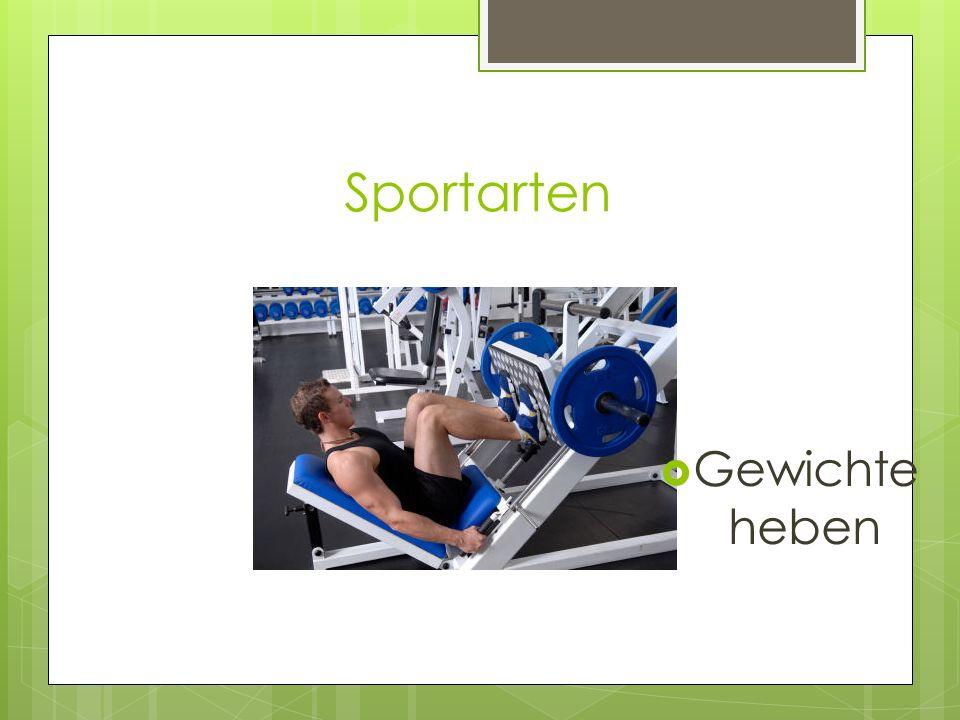 Sportarten Gewichte heben