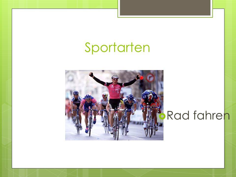 Sportarten Rad fahren