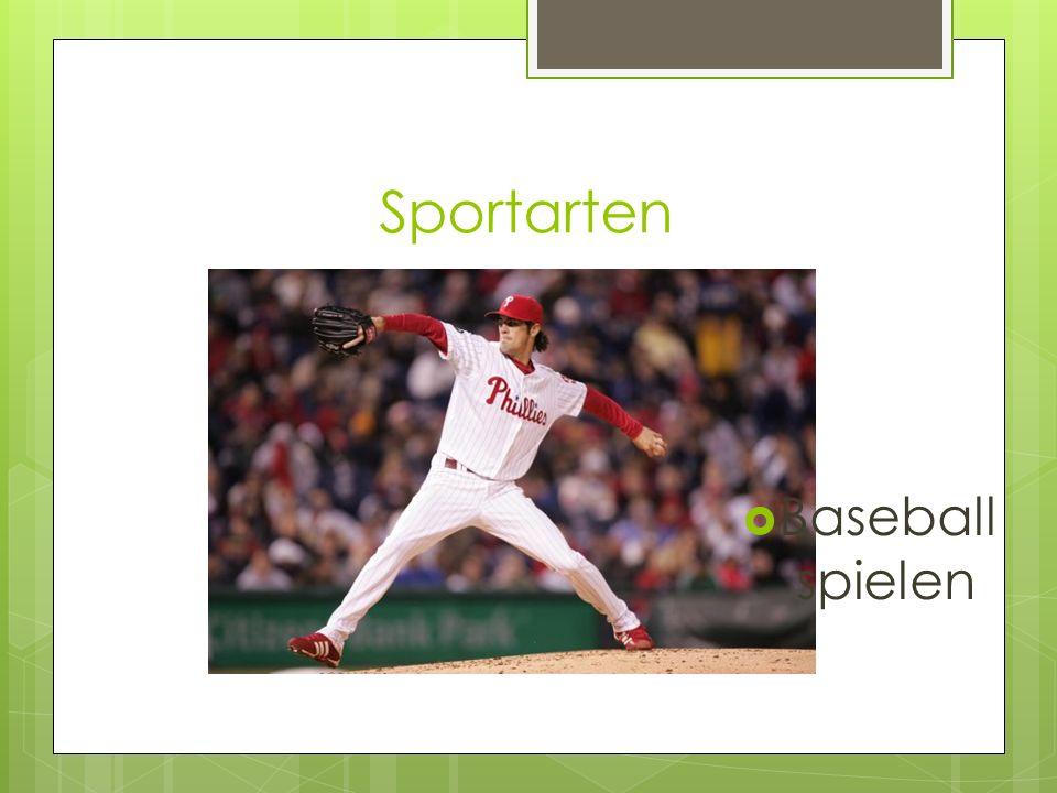 Sportarten Baseball spielen