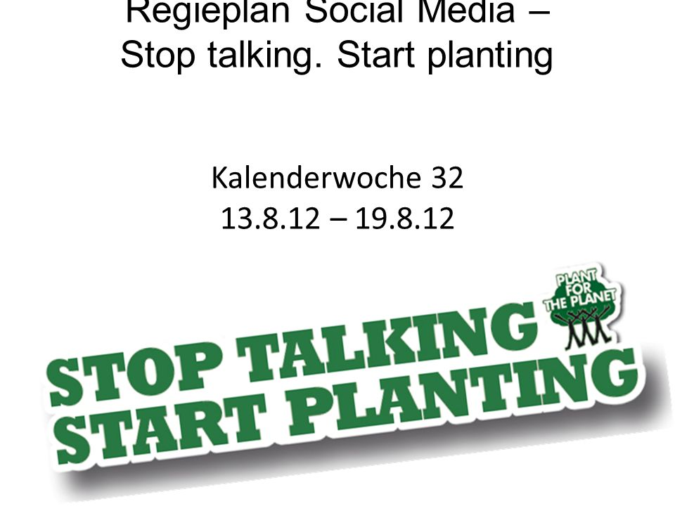 Regieplan Social Media – Stop talking