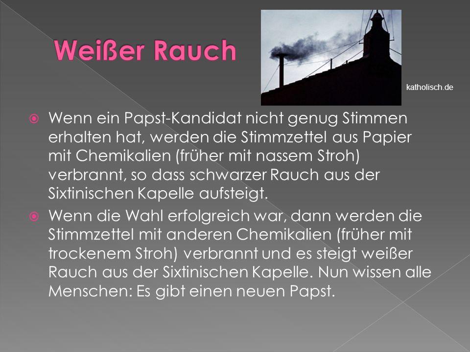 Weißer Rauch katholisch.de.