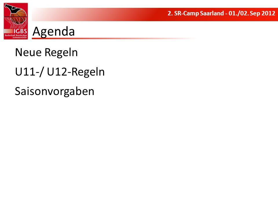 Agenda Neue Regeln U11-/ U12-Regeln Saisonvorgaben