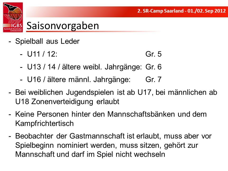 Saisonvorgaben Spielball aus Leder U11 / 12: Gr. 5
