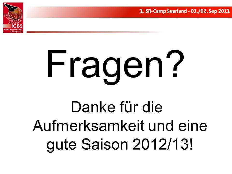 Danke für die Aufmerksamkeit und eine gute Saison 2012/13!