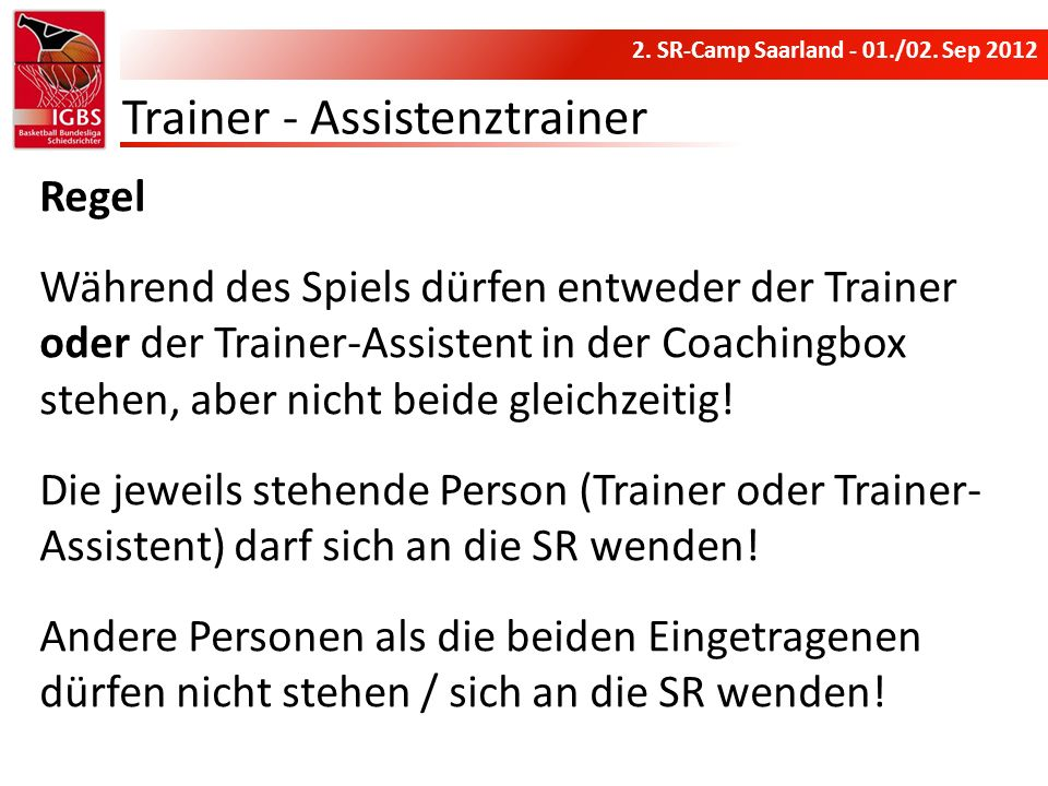 Trainer - Assistenztrainer