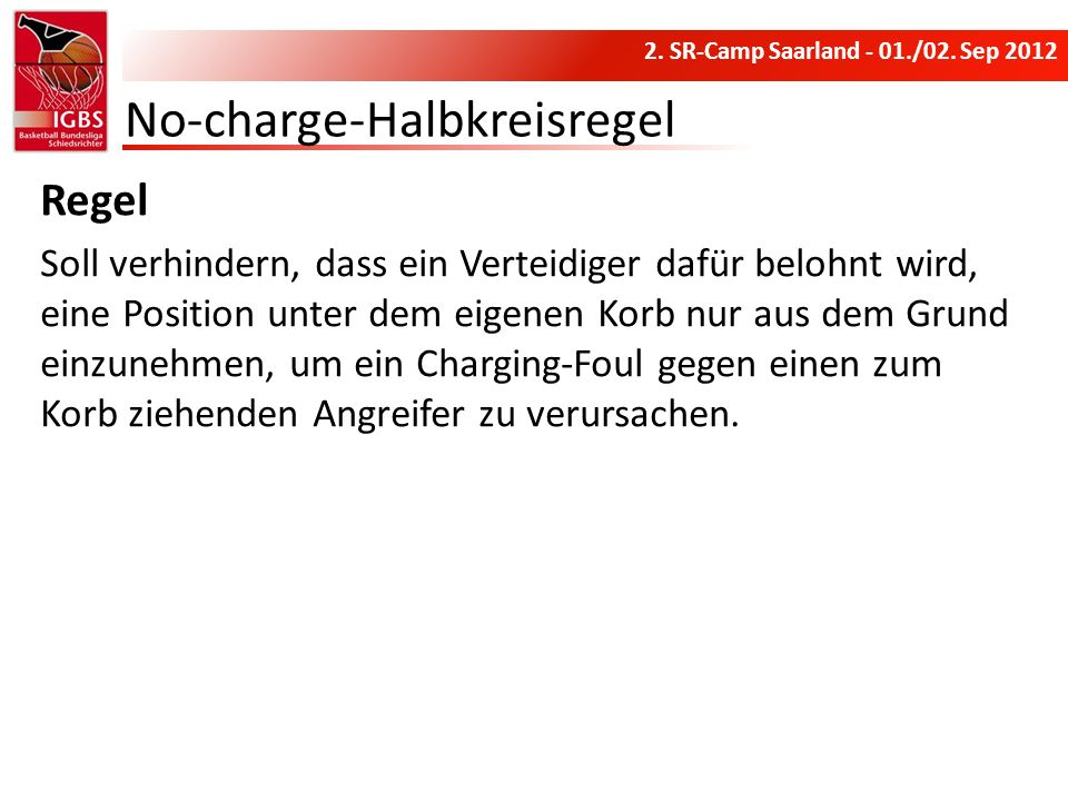 No-charge-Halbkreisregel