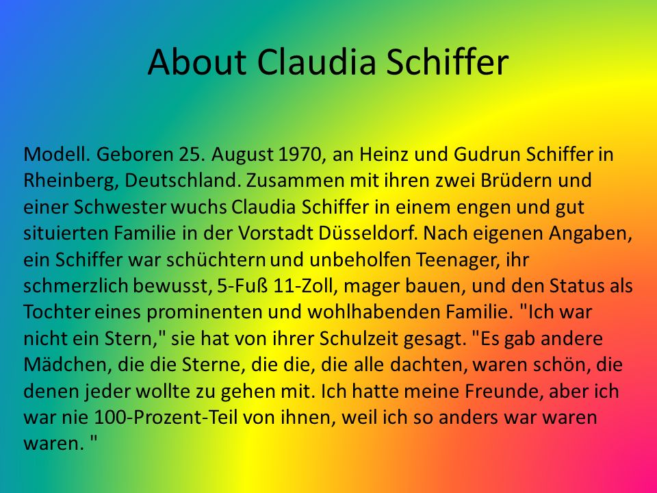 About Claudia Schiffer