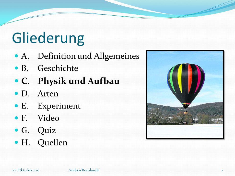 Gliederung C. Physik und Aufbau A. Definition und Allgemeines