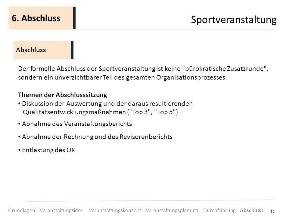 Sportveranstaltung 6. Abschluss Abschluss