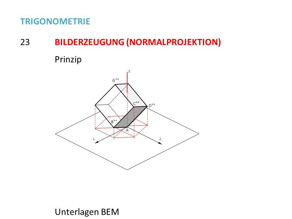 BILDERZEUGUNG (NORMALPROJEKTION)