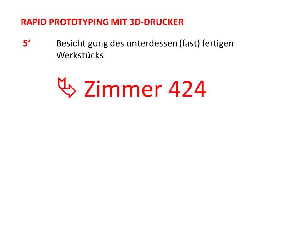  Zimmer 424 RAPID PROTOTYPING MIT 3D-DRUCKER 5'