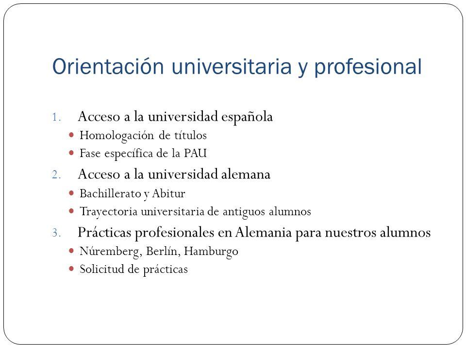 Orientación universitaria y profesional