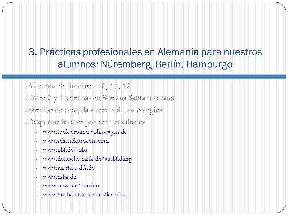 3. Prácticas profesionales en Alemania para nuestros alumnos: Núremberg, Berlín, Hamburgo