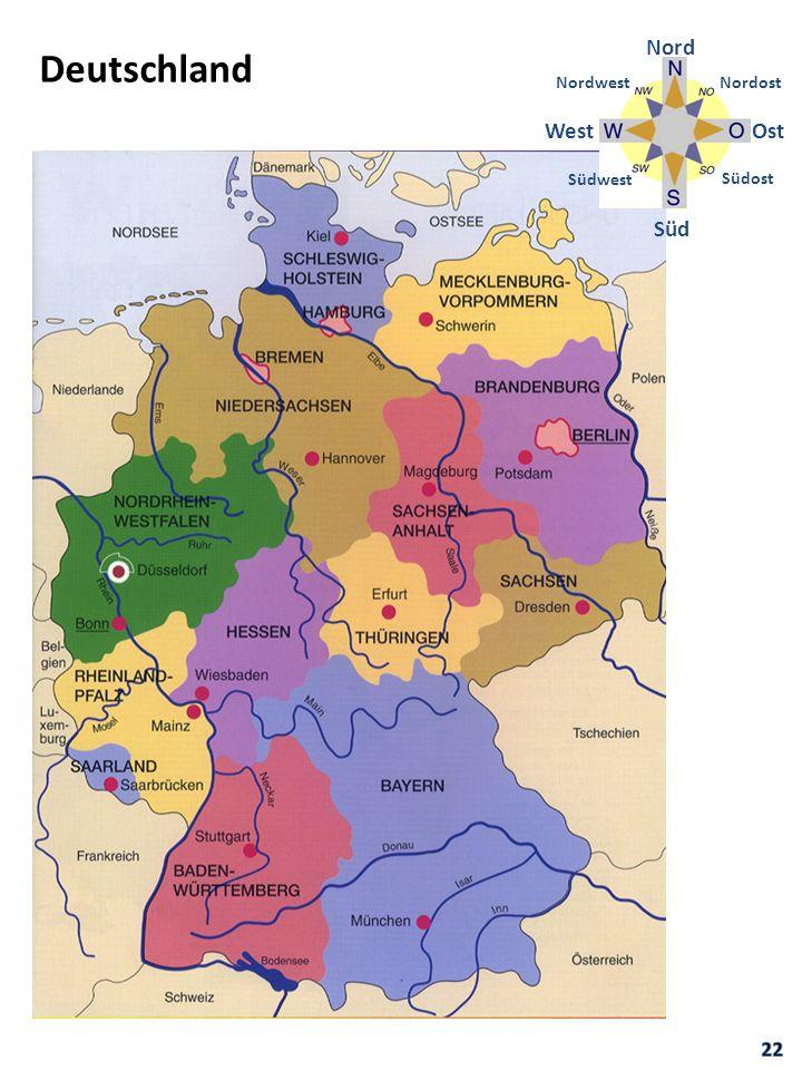 Nord Deutschland Nordwest Nordost West Ost Südwest Südost Süd 22