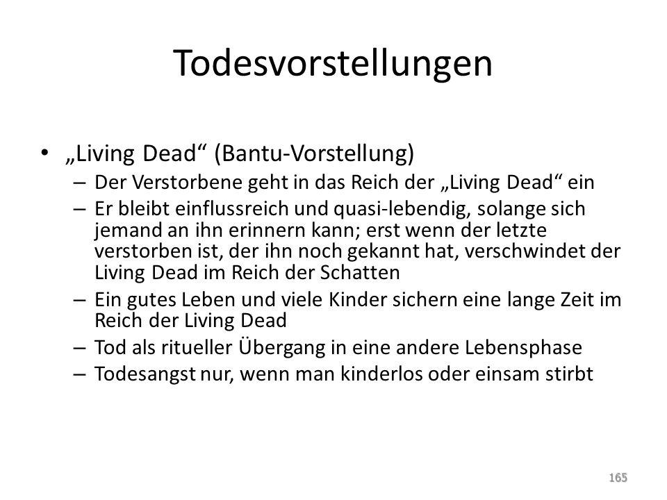 """Todesvorstellungen """"Living Dead (Bantu-Vorstellung)"""
