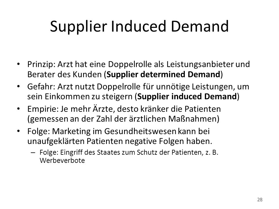 Supplier Induced Demand