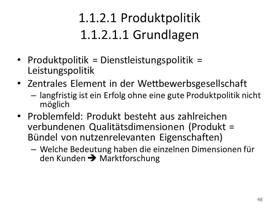 1.1.2.1 Produktpolitik 1.1.2.1.1 Grundlagen